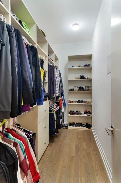 Real Estate Photography - 2027 W Belmont Ave #1, Chicago, IL, 60618 - Master Bedroom Closet