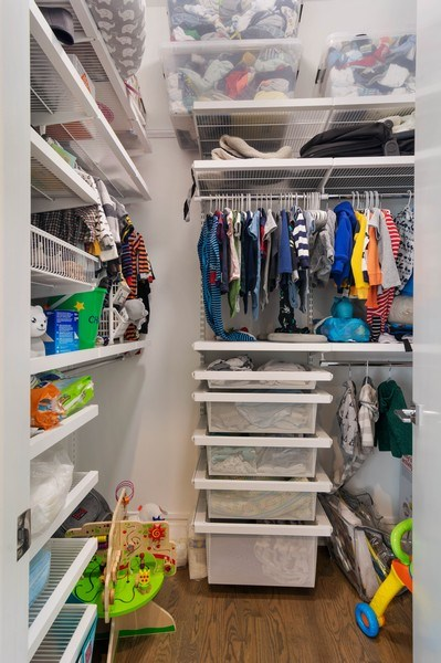 Real Estate Photography - 2027 W Belmont Ave #1, Chicago, IL, 60618 - Closet