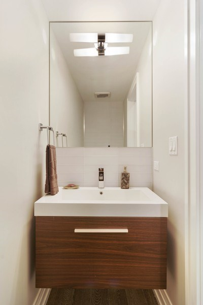 Real Estate Photography - 2027 W Belmont Ave #1, Chicago, IL, 60618 - Half Bath