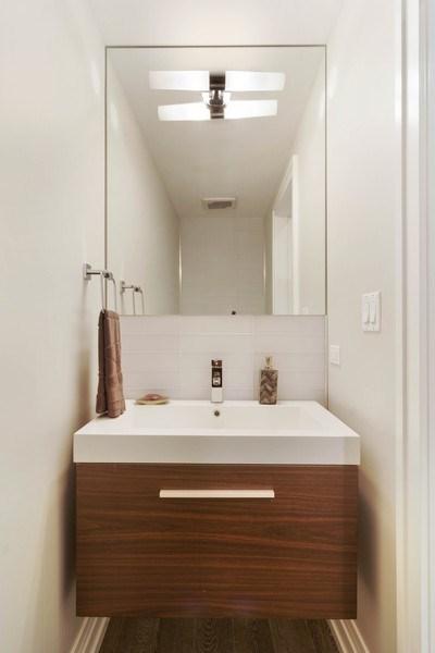 Real Estate Photography - 2027 W Belmont Ave #1, Chicago, IL, 60618 - Half Bath