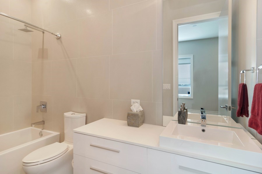 Real Estate Photography - 2027 W Belmont Ave #1, Chicago, IL, 60618 - Bathroom