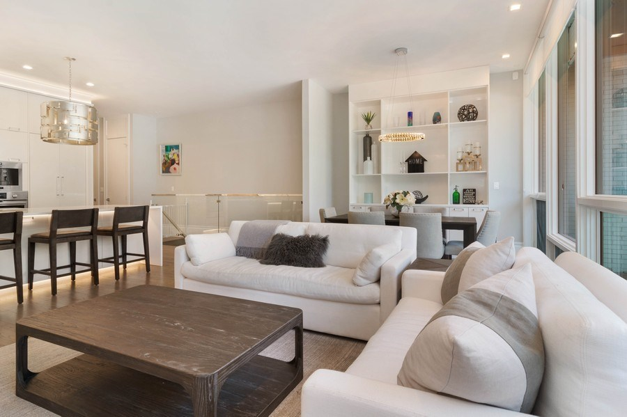 Real Estate Photography - 2027 W Belmont Ave #1, Chicago, IL, 60618 - Living Room/Dining Room