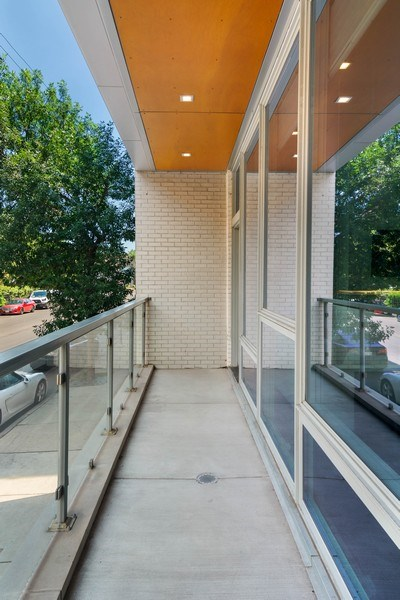 Real Estate Photography - 2027 W Belmont Ave #1, Chicago, IL, 60618 - Balcony