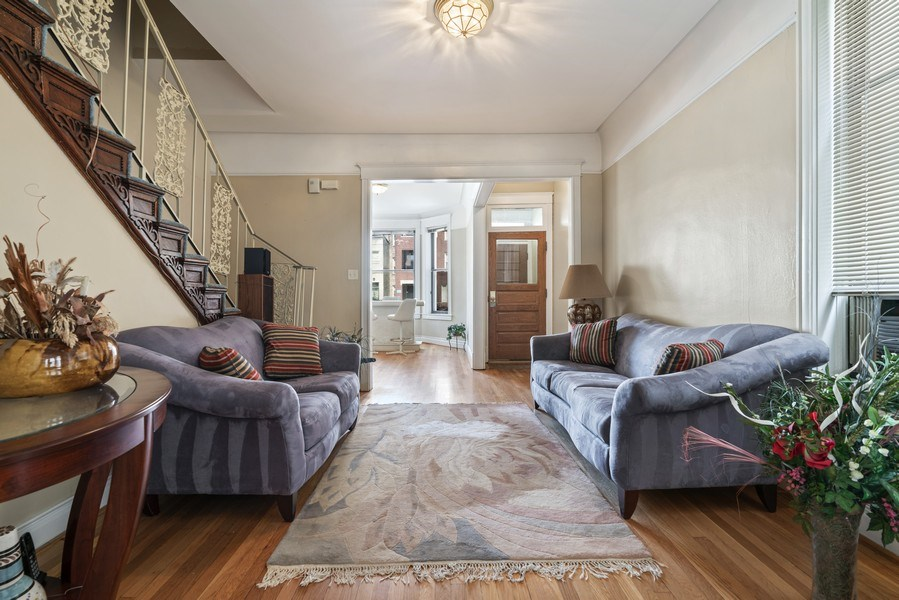 Real Estate Photography - 5344 S Drexel Ave, Chicago, IL, 60615 - Living Room