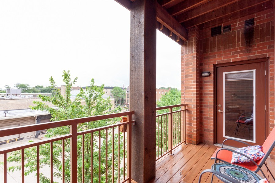 Real Estate Photography - 930 Curtis St., Unit 309, Downers Grove, IL, 60515 - Balcony