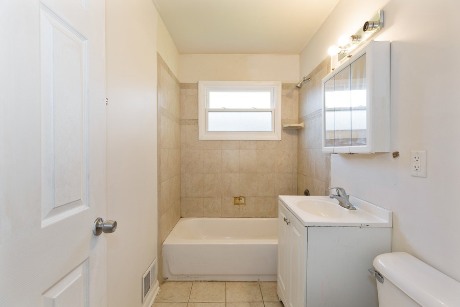 Real Estate Photography - 15319 Winchester, Harvey, IL, 60426 - Bathroom