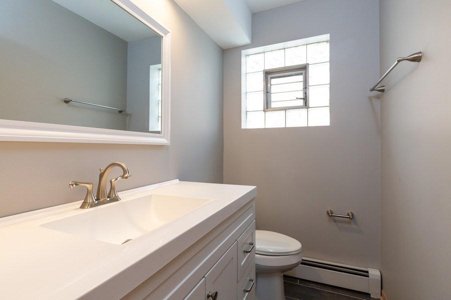 Real Estate Photography - 8556 W. Argyle St., Chicago, IL, 60656 - 2nd Bathroom