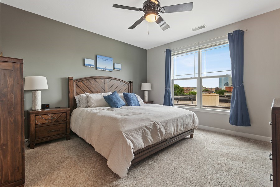 Real Estate Photography - 1619 N Farwell Ave, 309, Milwaukee, WI, 53202 - Master Bedroom