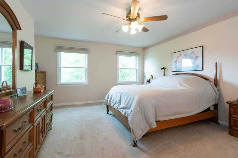 Real Estate Photography - 18761 Spring Creek Street, New Lenox, IL, 60451 - Master Bedroom