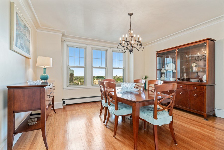 Real Estate Photography - 5000 S East End Ave, Apt 17 D, Chicago, IL, 60615 - Dining Room