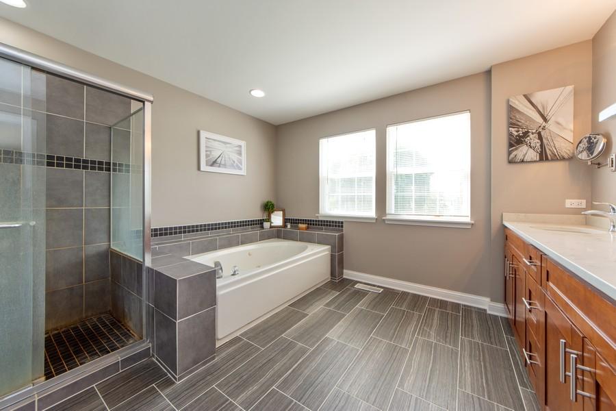 Real Estate Photography - 741 Brighton Cir, Barrington, IL, 60010 - Master Bathroom