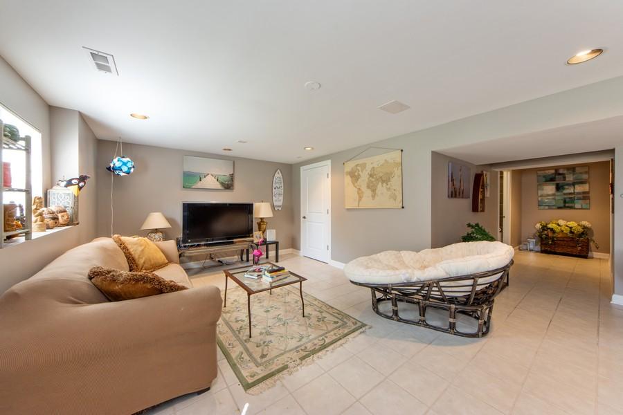 Real Estate Photography - 741 Brighton Cir, Barrington, IL, 60010 - Lower Level Recreation Room