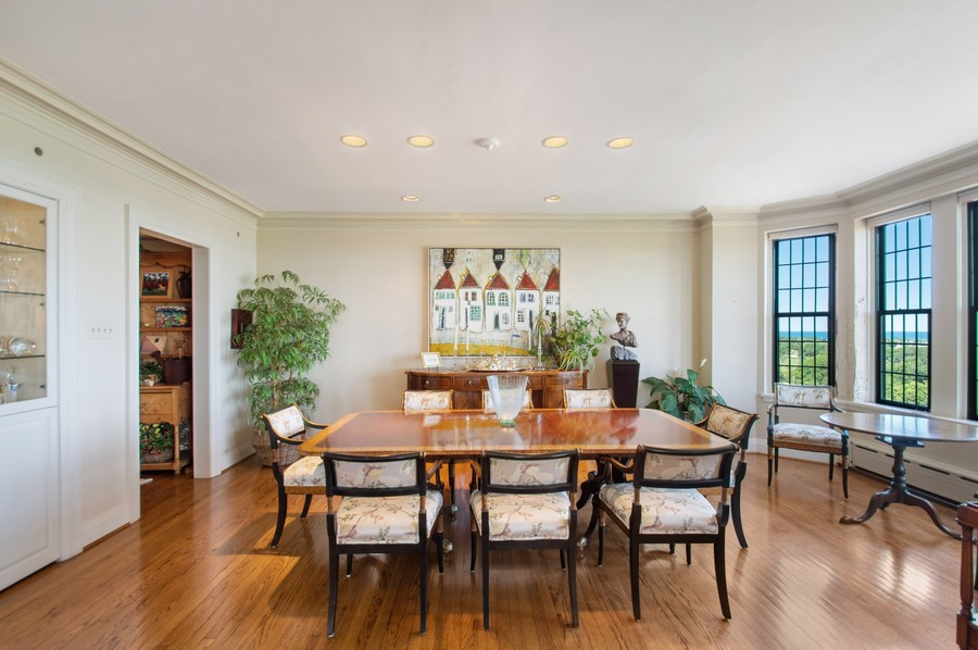Real Estate Photography - 3800 N Lakeshore Drive, 11A, Chicago, IL, 60613 - Dining Room