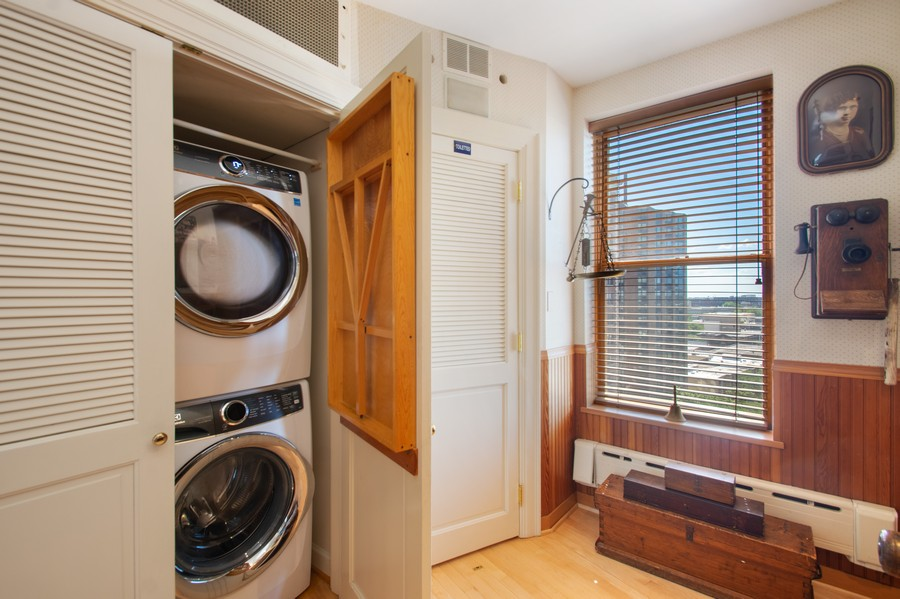 Real Estate Photography - 3800 N Lakeshore Drive, 11A, Chicago, IL, 60613 - Laundry Room