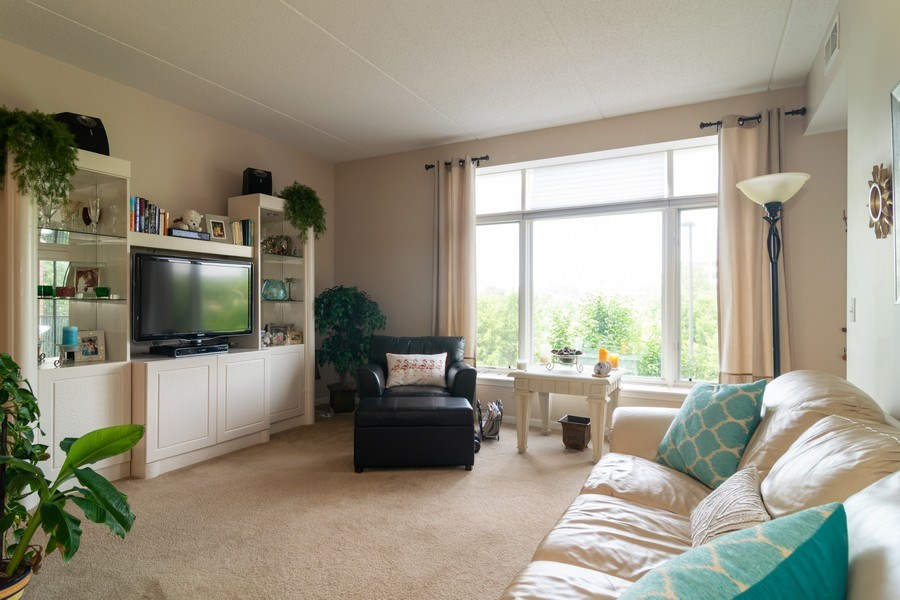Real Estate Photography - 845 E. 22nd St., unit 206, Lombard, IL, 60148 - Living Room