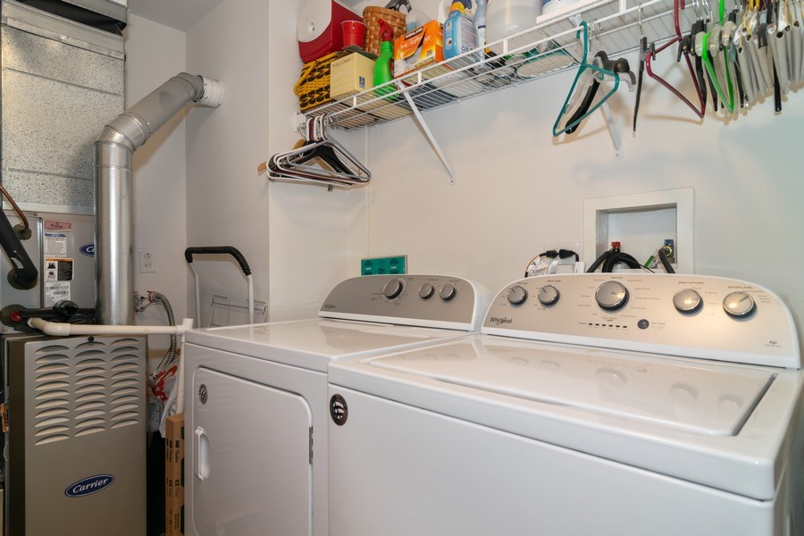 Real Estate Photography - 845 E 22nd St, unit 206, Lombard, IL, 60148 - Laundry Room