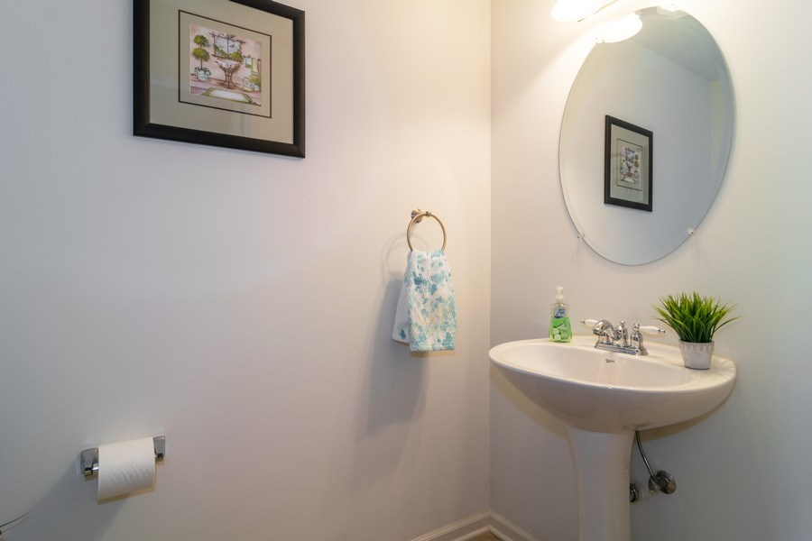 Real Estate Photography - 845 E 22nd St, unit 206, Lombard, IL, 60148 - Half Bath