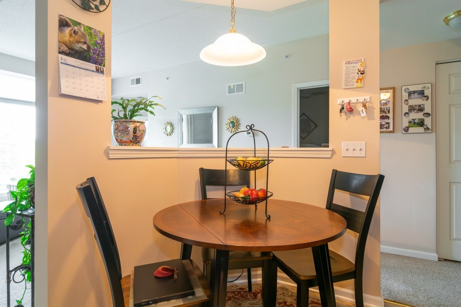 Real Estate Photography - 845 E 22nd St, unit 206, Lombard, IL, 60148 - Breakfast Nook