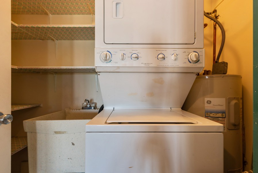 Real Estate Photography - 1365 C Sterling #212, Palatine, IL, 60067 - Laundry Room