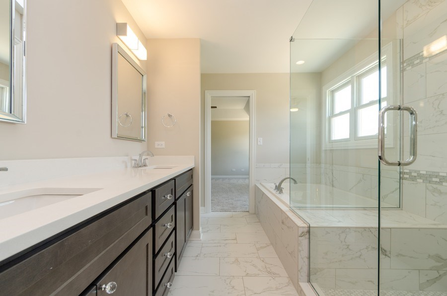 Real Estate Photography - 1987 Louis Drive, Crown Point, IN, 46307 - Master Bathroom