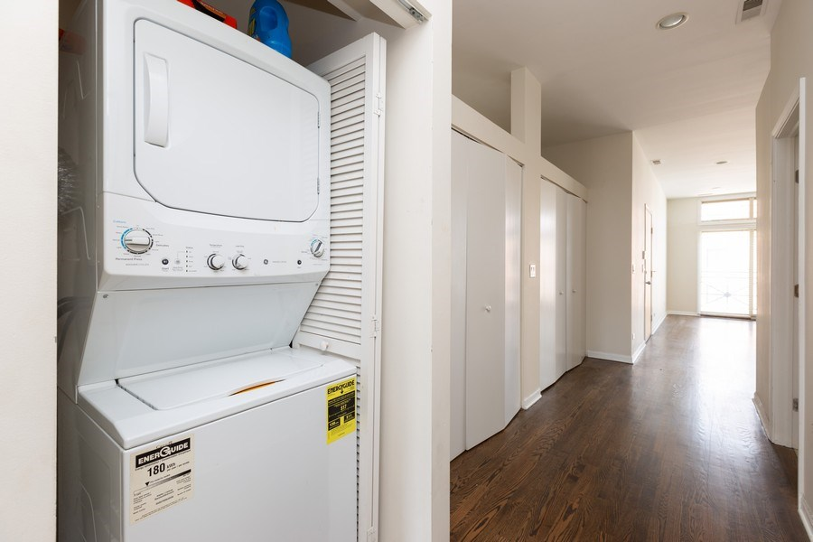 Real Estate Photography - 1633 N. Western-#2N, Chicago, IL, 60647 - Laundry Room