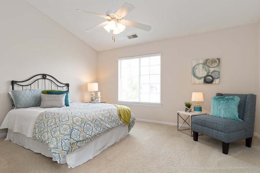 Real Estate Photography - 2216 Daybreak, Aurora, IL, 60503 - Master Bedroom