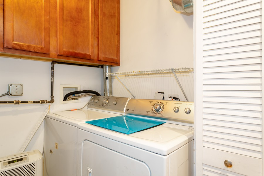 Real Estate Photography - 928 W Eastwood, Unit 1E, Chicago, IL, 60640 - Laundry Room