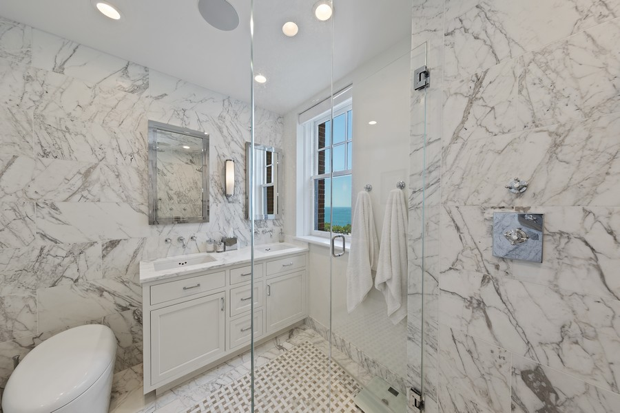 Real Estate Photography - 421 W Melrose #20C, Chicago, IL, 60657 - Master Bathroom