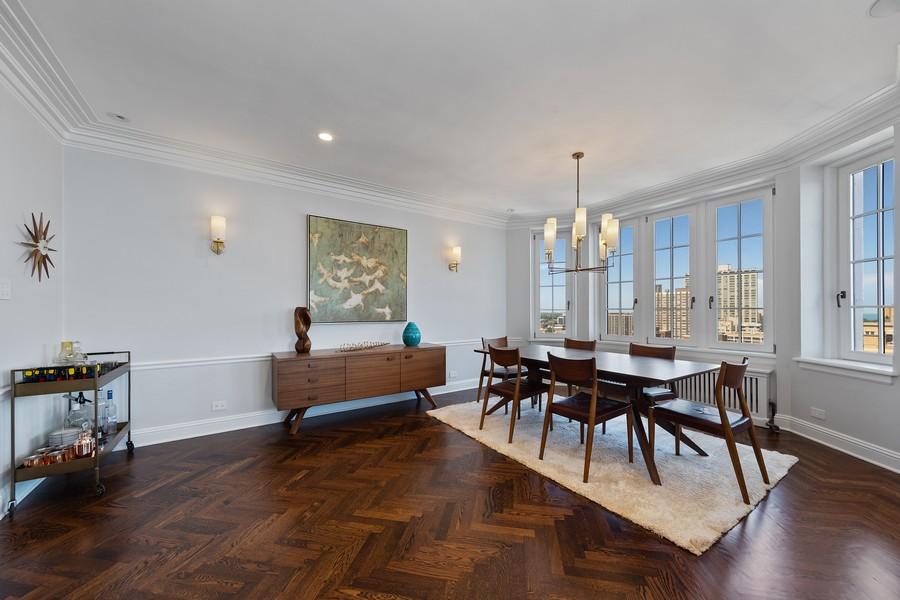Real Estate Photography - 421 W Melrose #20C, Chicago, IL, 60657 - Dining Room