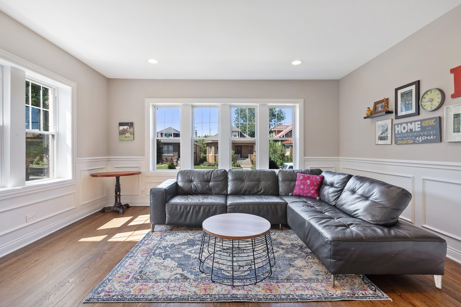 Real Estate Photography - 5447 W Hutchinson, Chicago, IL, 60641 - Living Room