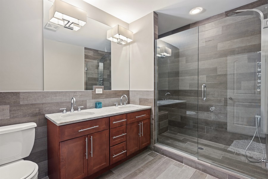 Real Estate Photography - 5447 W Hutchinson, Chicago, IL, 60641 - Master Bathroom