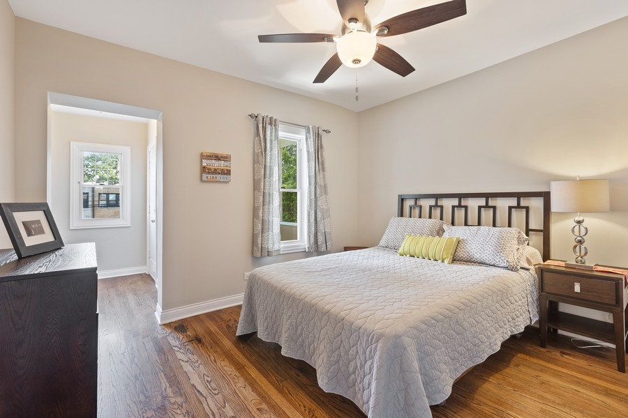 Real Estate Photography - 5447 W Hutchinson, Chicago, IL, 60641 - Master Bedroom