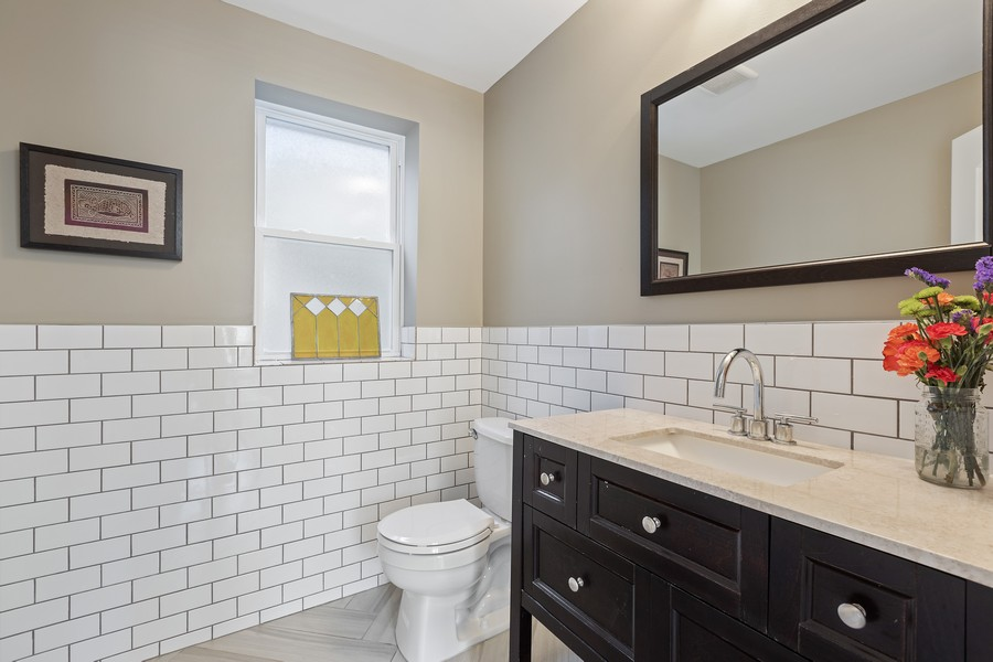 Real Estate Photography - 5447 W Hutchinson, Chicago, IL, 60641 - Half Bath