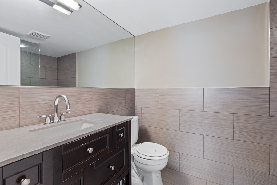 Real Estate Photography - 5447 W Hutchinson, Chicago, IL, 60641 - 2nd Bathroom