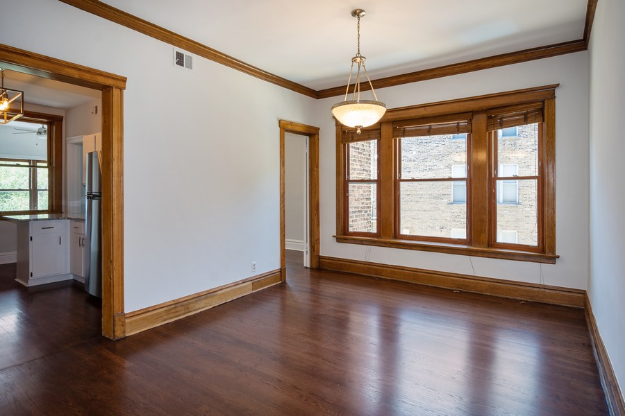 Real Estate Photography - 823 W Belle Plaine, #2, Chicago, IL, 60657 - Dining Room
