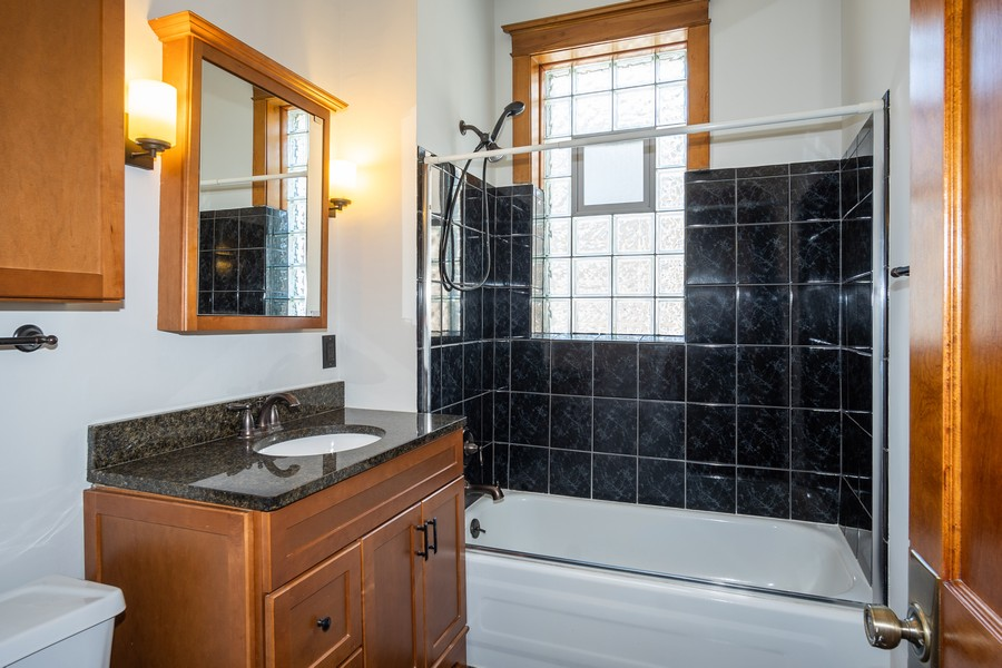 Real Estate Photography - 823 W Belle Plaine, #2, Chicago, IL, 60657 - Bathroom