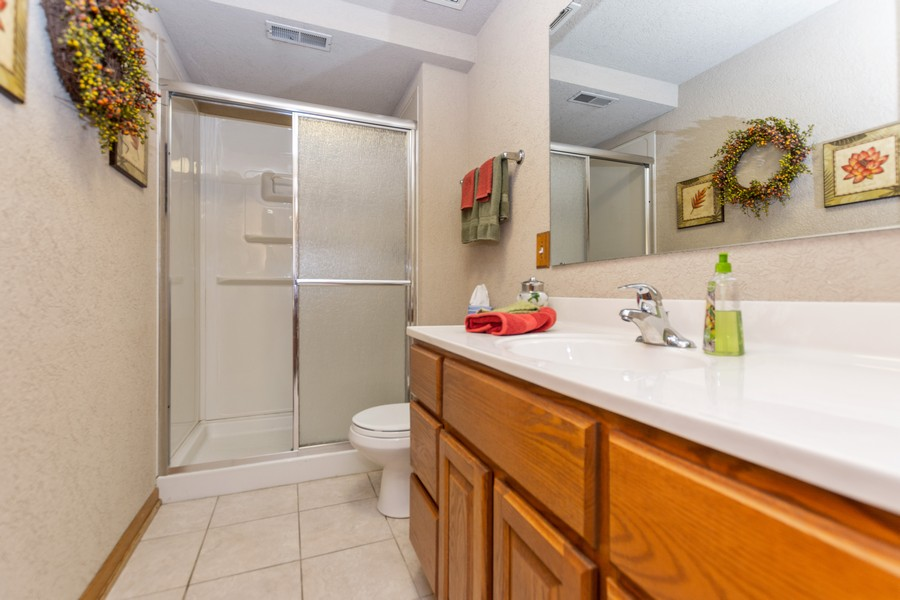 Real Estate Photography - 8907 Patty, Orland Park, IL, 60462 - 2nd Bathroom