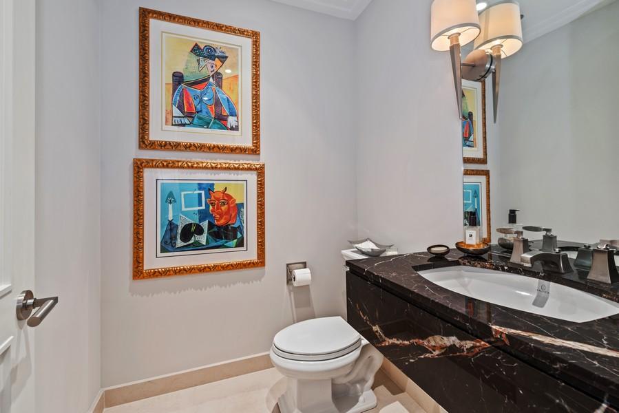 Real Estate Photography - 159 Walton, #7E, Chicago, IL, 60611 - Powder Room