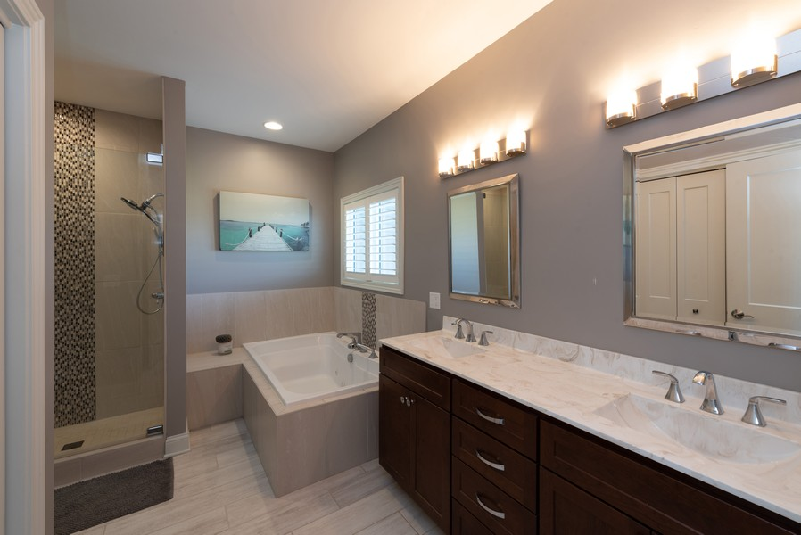 Real Estate Photography - 10311 West 99th Avenue, St. John, IN, 46373 - Master Bathroom