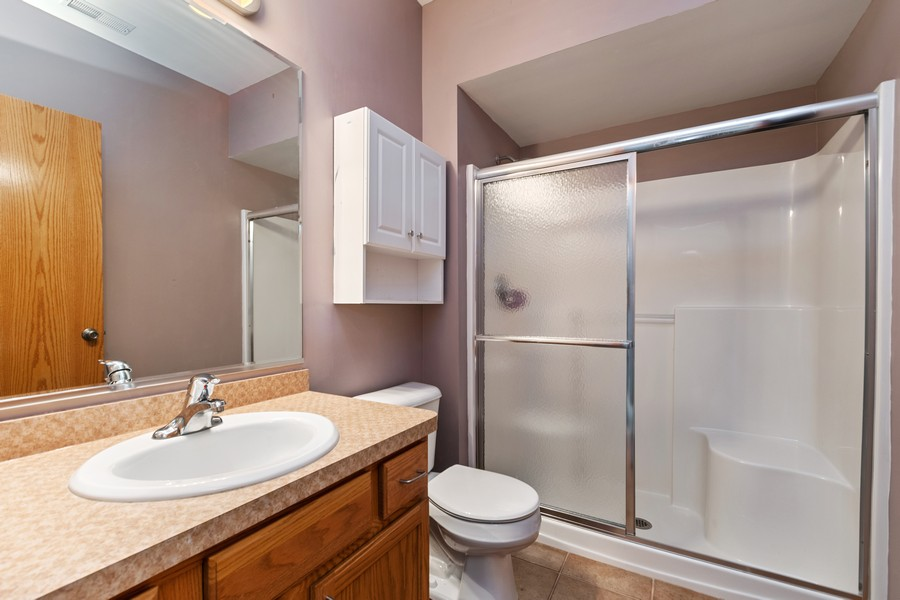 Real Estate Photography - 7928 TRINITY CIRCLE, UNIT 4SW, TINLEY PARK, IL, 60487 - Second Bathroom