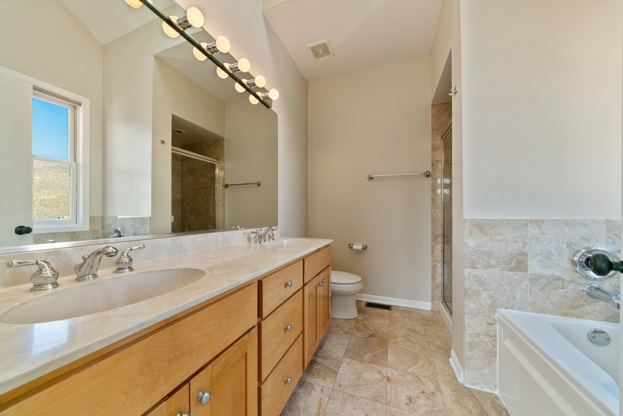Real Estate Photography - 727 W Belmont Ave., #10, Chicago, IL, 60657 - Master Bathroom