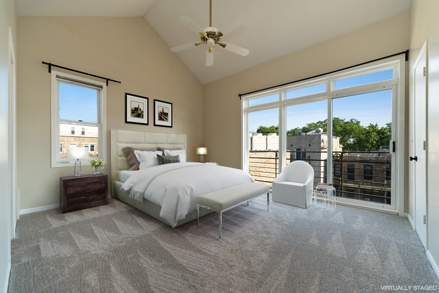 Real Estate Photography - 727 W Belmont Ave., #10, Chicago, IL, 60657 - Master Bedroom
