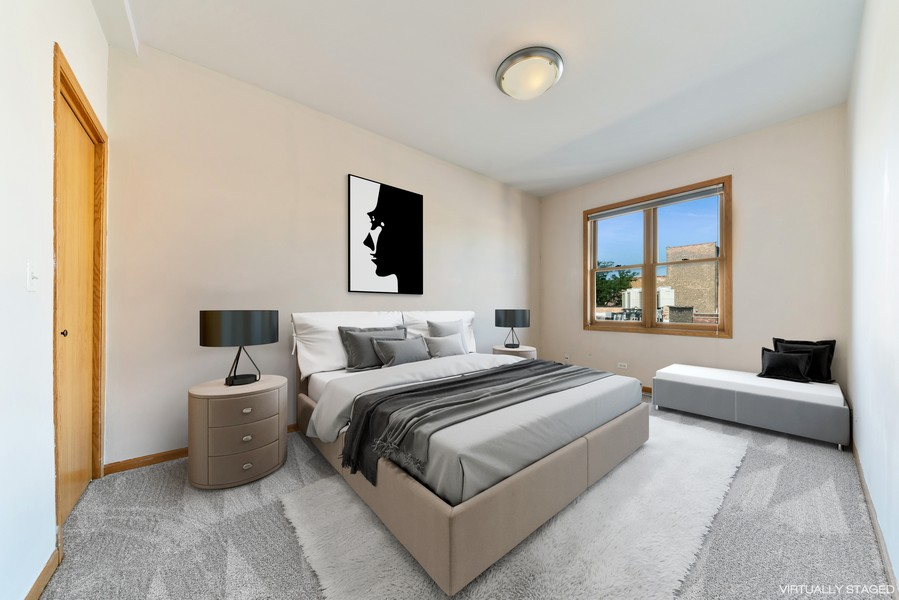 Real Estate Photography - 727 W Belmont Ave., #10, Chicago, IL, 60657 - 2nd Bedroom