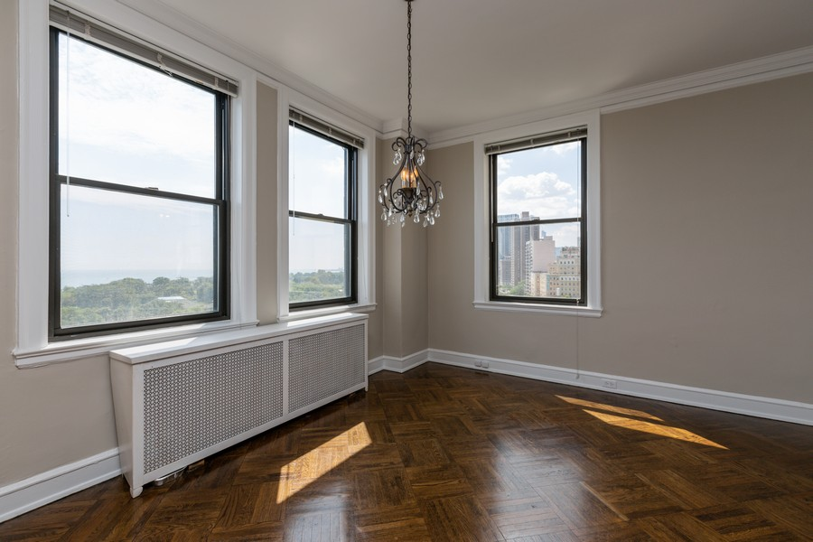 Real Estate Photography - 2000 Lincoln Park West Unit 902, Chicago, IL, 60614 - Dining Room
