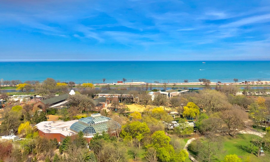 Real Estate Photography - 2000 Lincoln Park West Unit 902, Chicago, IL, 60614 - Lincoln Park Zoo, exercise/walking paths, Lincoln