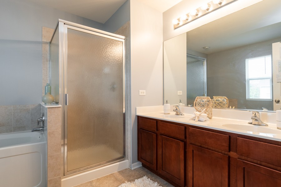 Real Estate Photography - 1306 Dauphin Drive, Joliet, IL, 60431 - Master Bathroom
