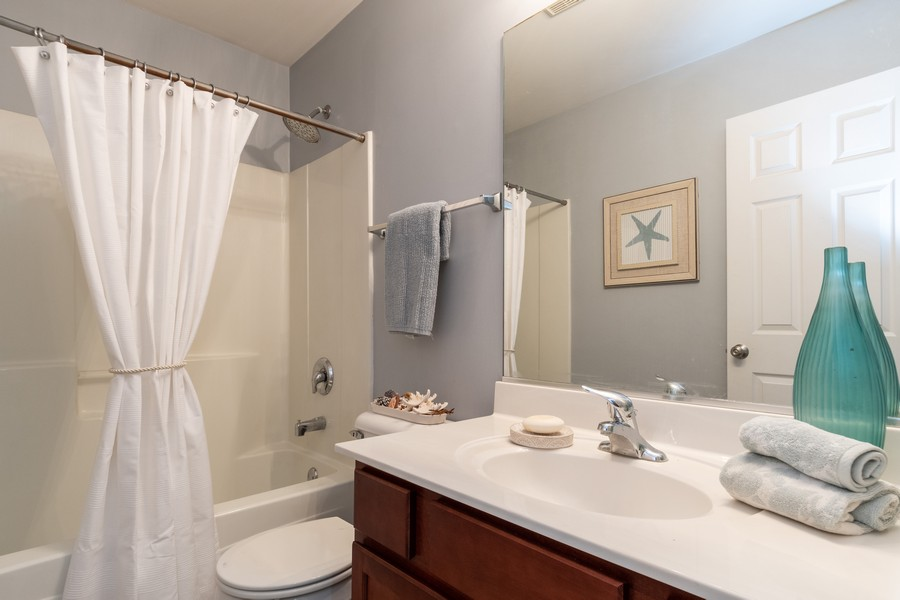 Real Estate Photography - 1306 Dauphin Drive, Joliet, IL, 60431 - 2nd Bathroom