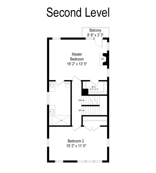 Real Estate Photography - 3545 N Damen, Chicago, IL, 60618 - Second Level Floorpan