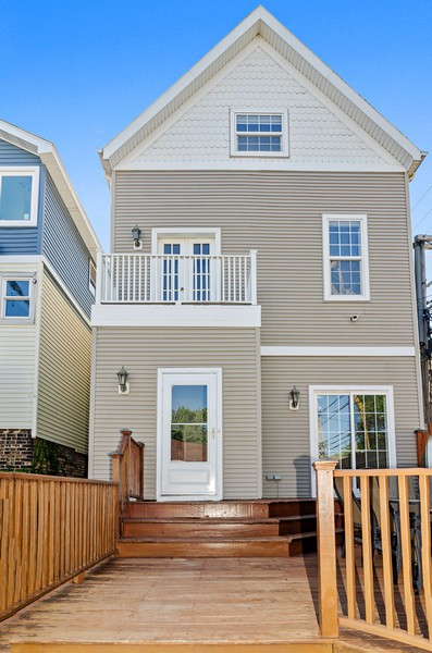 Real Estate Photography - 3545 N Damen, Chicago, IL, 60618 - Rear View