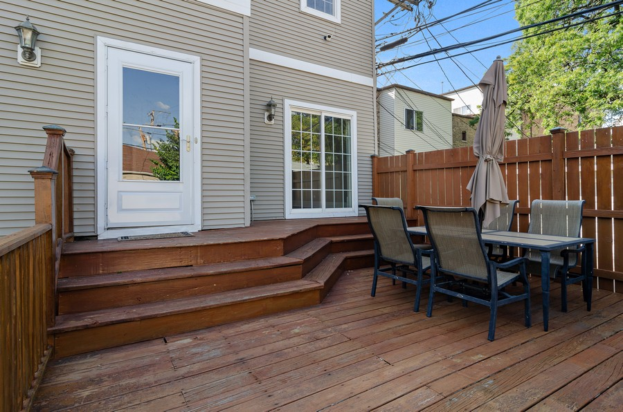 Real Estate Photography - 3545 N Damen, Chicago, IL, 60618 - Deck